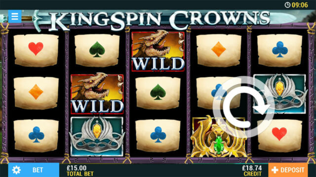 KingSpin Crowns mobile slots at Casino 2020