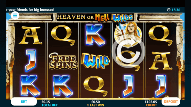 Heaven or Hell Wilds mobile slots at Casino 2020
